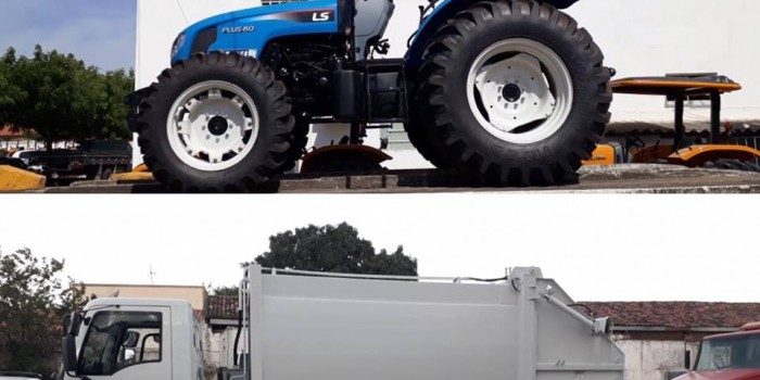 Novo Trator e Compactador ampliam a oferta de serviços.