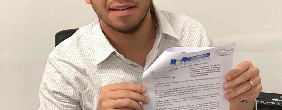 O Prefeito Vinícius Lima sancionou o Projeto de Lei do Executivo nº 28, devidamente aprovado