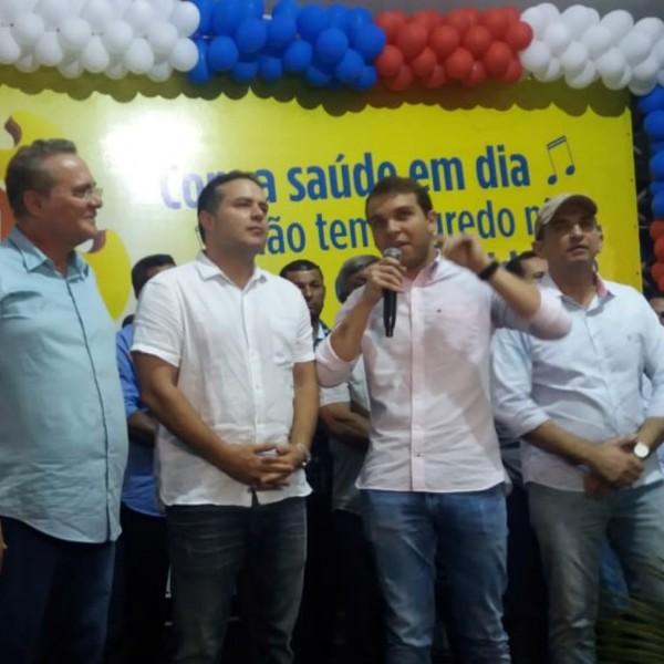 Prefeito Vinícius Lima dá boas-vindas ao Governador Renan Filho e Comitiva